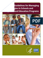 Food allergy guidelines for schools