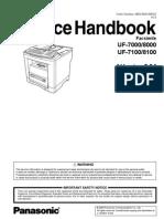 Panasonic UF 7000 7100 8000 8100 Service Handbook