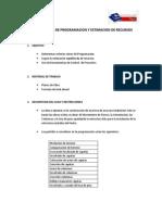 Programación y estimación de recursos (LEAN)