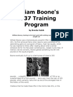 William Boone`s 1937 Training Program