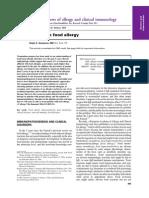 Update on Food Allergy