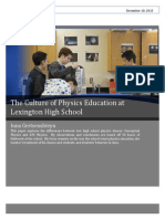 culture of education of physics