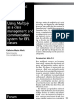 Using Multiply as a class management and communication system for EFL classes