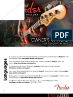 Fender BassGuitars Manual (2011) English