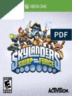 SKYLANDERS SWAP Force Xbox One GAME MANUAL