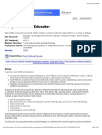 occinfo - early childhood educator