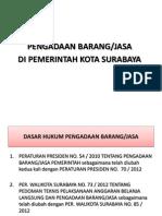 Sosialisasi Peraturan Walikota Surabaya No73 Tahun2012