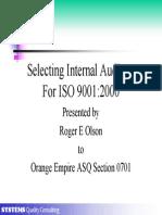 Selecting Internal Auditors 9K2K