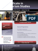 LR0026 - Certificate in Terrorism Studies LR0026EA20B - Private Sector Email
