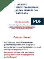 Raperda Pengelolaan Usaha Pertambangan Mineral Dan Batu Bara Kab Mlg