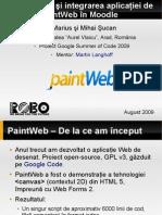 Dezvoltarea şi integrarea aplicaţiei de desenat PaintWeb în Moodle