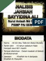 Analisis Sayyidina Ali