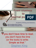 Academic Writing and Statistics