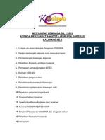 Agenda Mesyuarat Anggota Lembaga Koperasi Kali Yang Ke 6