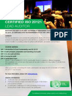 ISO 20121 Lead Auditor - One Page Brochure