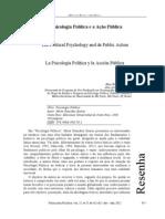 Carmo, Aline. (2012). A Psicologia Política e a Ação Pública. Psicologia Política, 12(25).
