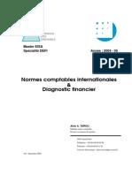Normes Comptables Internationales Et Diagnostic Fiancier