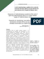Etchezahar, Edgardo. (2012). Las dimensiones del autoritarismo