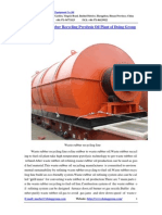 Green Waste Rubber Recycling Pyrolysis Oil Plant of Doing Group