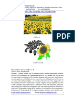 The Nutritive Value and Quality Index of Sunflower Oil