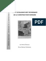 Petit Catalogue Des Techniques de Construction Romaine