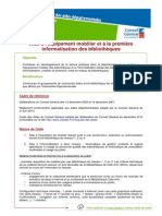 Culture AideEquipementMobilierEtPremiereInformatisationBibliotheques