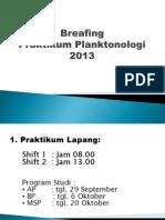 Briefing Praktikum Planktonologi 2013