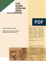 FORMAS DE  REPRESENTAÇÃO  SOCIAL E POLÍTICA NAS  MINAS GERAIS  SETECENTISTAS Karina Paranhos da Mata