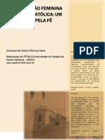 PARTICIPAÇÃO FEMININA NA IGREJA CATÓLICA