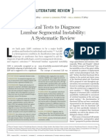 Clinical Tests to Diagnose Lumbar Segmental Instability, A Systematic Review