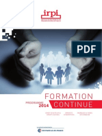 Catalogue Formation Continue IRPI_2014