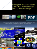 Hydro-Meteorological Hazards in the Philippines, Weather Forecasting, & Facts about Climate Change