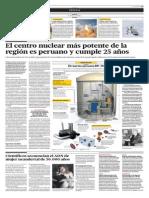 El centro nuclear más potenente de la región es peruano y cumple 25 años