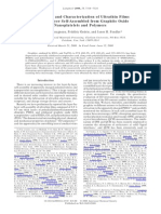 Preparation and Characterization of Ultrathin Films