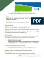 Environnement-AmenagementCoursdeauAmenagementRestauration