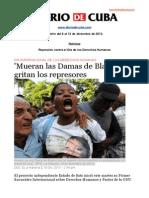 Boletín de Diario de Cuba | Del 6 al 12 de diciembre de 2013