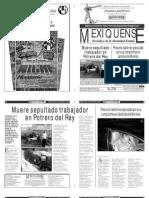 Versión impresa del periódico El mexiquense 20 diciembre 2013