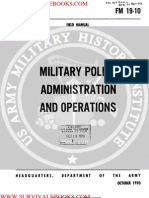 1970 Us Army Vietnam War Military Police Administration and Operations 98p