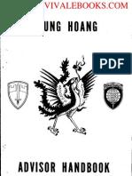 1970 US Army Vietnam War Phung Hoang Advisors Handbook 37p
