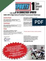 CIAC Football flyer