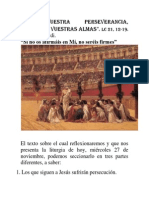CON VUESTRA PERSEVERANCIA SALVARÉIS VUESTRAS ALMAS