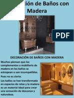 Decoración de Baños con Madera