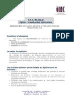 Bts Banque Marche Particulier