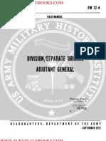 1972 US Army Vietnam War Division Separate Brigade Adjutant General 111p