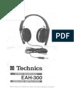 Technics Eah-300 Operating Instructions