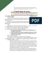 3 Best Days to Pray 21 June 2013