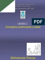 Lección 1 - Conceptos Preliminares.