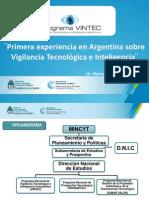 Presentación VINTEC Antena Tecnologica