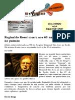 Reginaldo Rossi morre aos 69 anos de câncer no pulmão