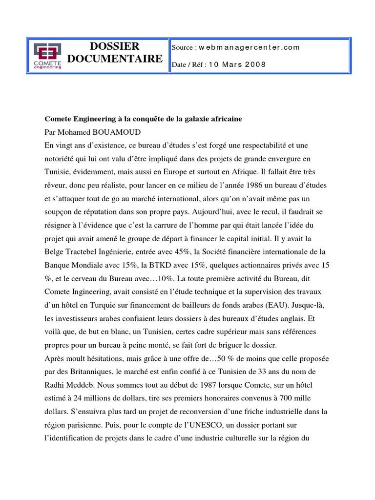 10 03 2008 Pdf Tunisie Afrique